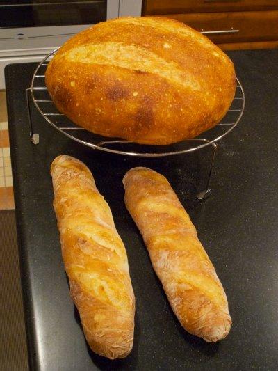 No-kneed bread