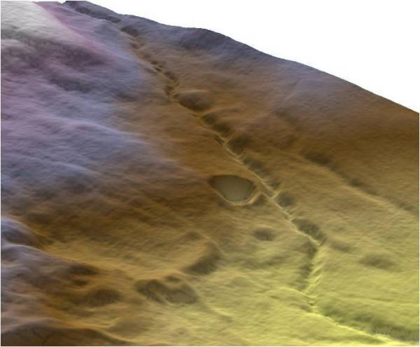 кратер Whitecourt в 3D