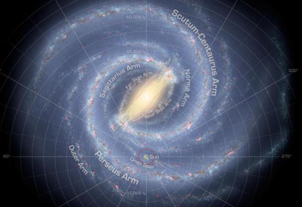Карта нашей галактики low resol