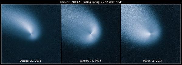 снимки Хаббла кометы C2013 A1
