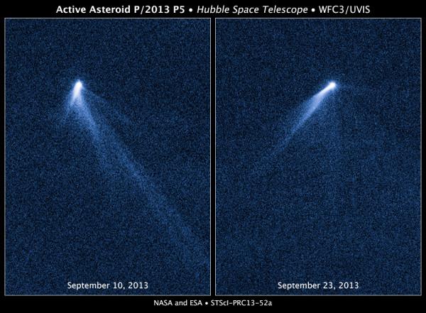 снимки Хаббла активного астериода P 2013 P5