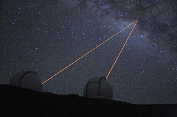 оба телескопа Кек наблюдают центр Галактики