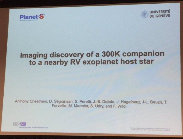 Imaging discovery of a 400K companion to a nearby RV exoplanet host star (probably HD 4113) 1953341_600