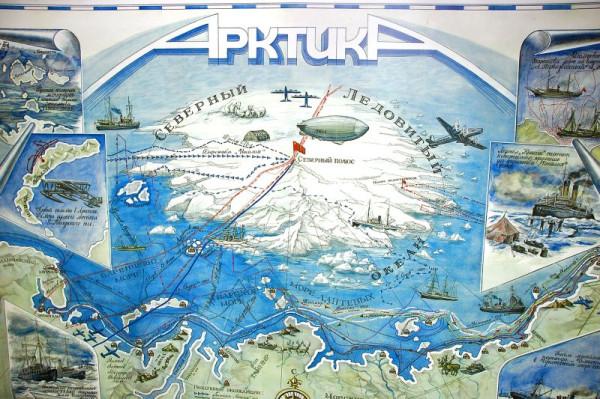 плакат из музея ледокол Красин