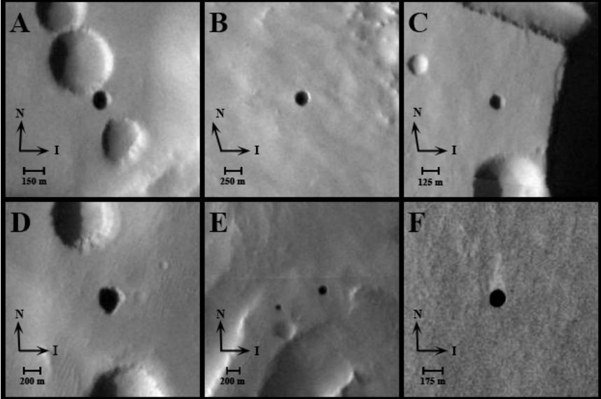 первые 7 марсианских пещер