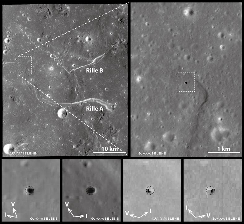 первая открытая пещера на Луне