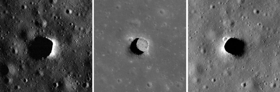 дыра Мариуса на снимках LRO 1