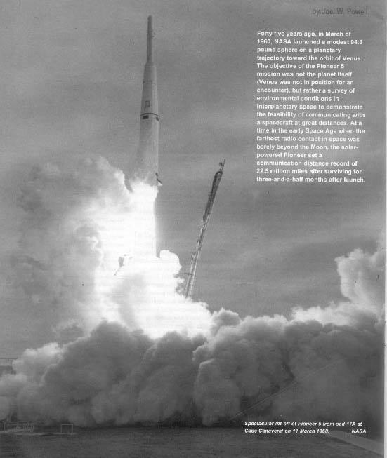 запуск зонда Пионер-5