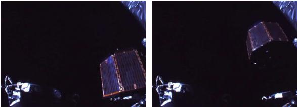 до и после отделения второго субспутника на Кагуе