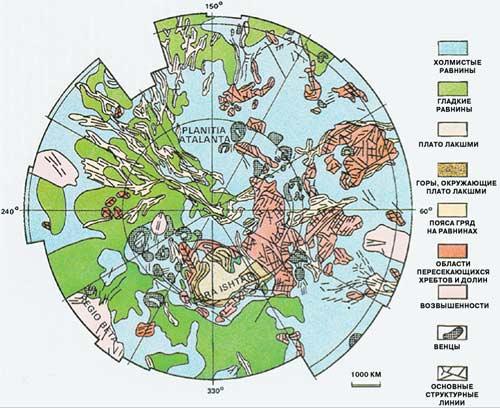 Геологическая карта Венеры