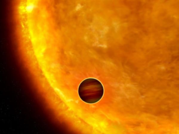 Художественное изображение горячего юпитера