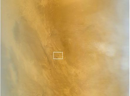 Первый снимок MARCI с замеченным пятном от 20 марта 2014 года