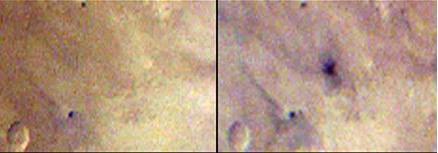 Снимок MARCI до и после появления пятна