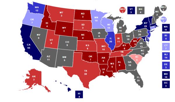 карта выборов Трампа