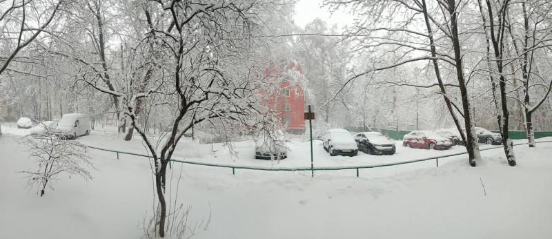 вид из моего окна в  Москве февраль 2017