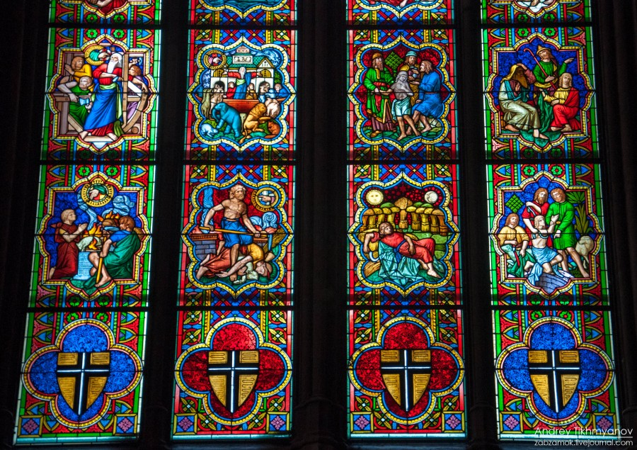Кельнский собор. Витражи-0781