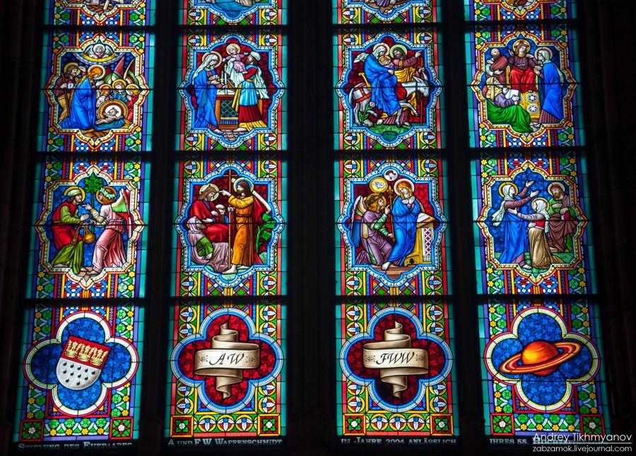 Кельнский собор. Витражи-0784