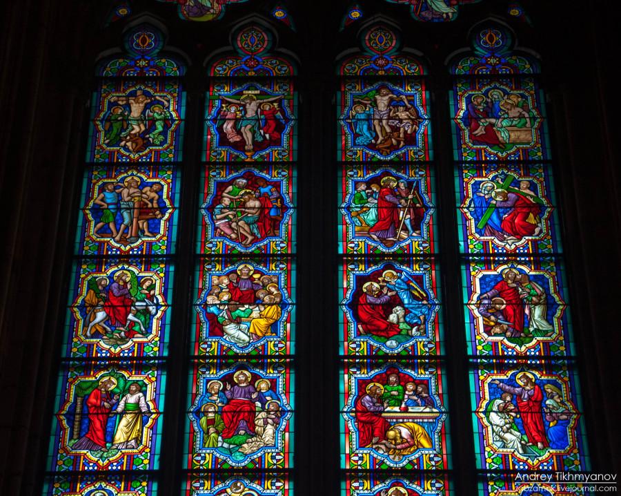 Кельнский собор. Витражи-0786
