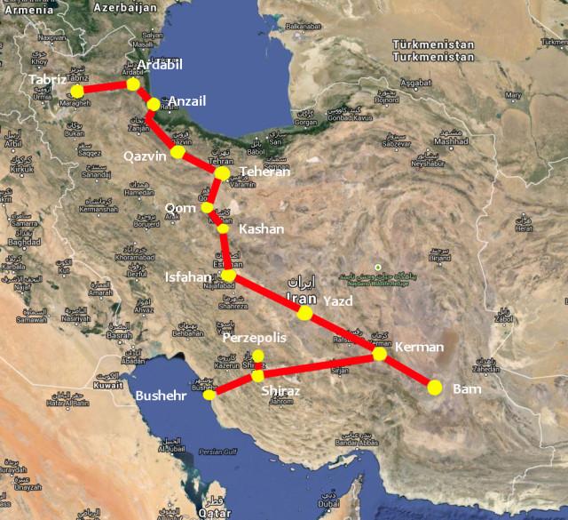 studijsko-putovanje-u-iran-2015-karta