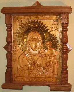 Икона Божией Матери. Работа Г. А. Подоляко