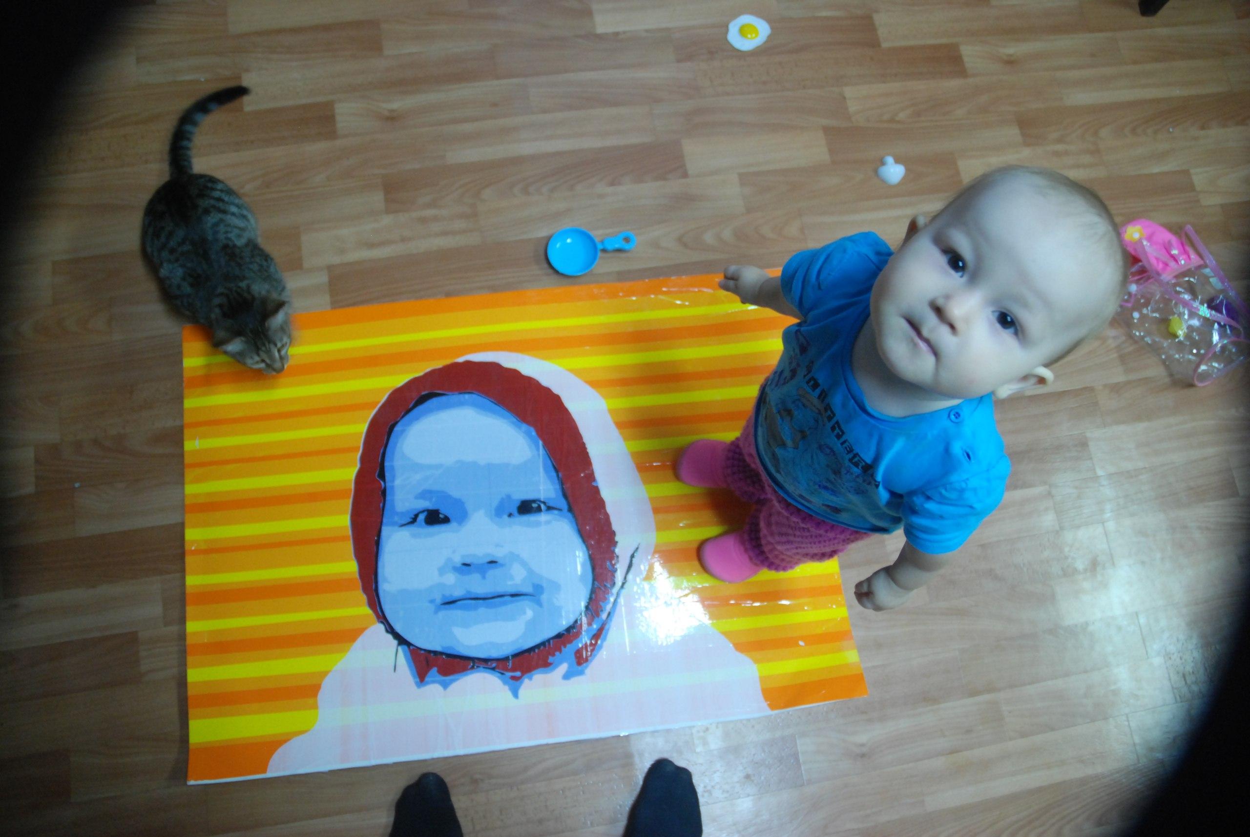 Портрет из цветного скотча