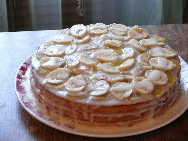 Торт из бисквитных готовых коржей рецепты