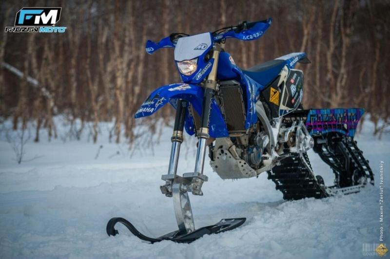 Сноубайк к снегоходу своими руками видео
