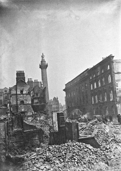 aftermath of British Shelling