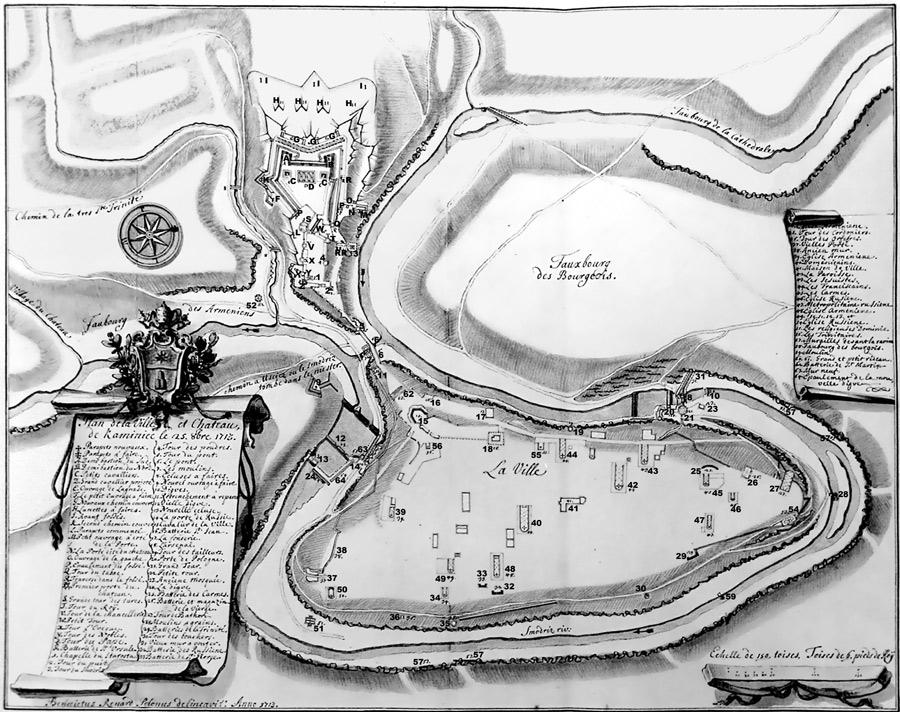 План Каменца-Подольского 1713