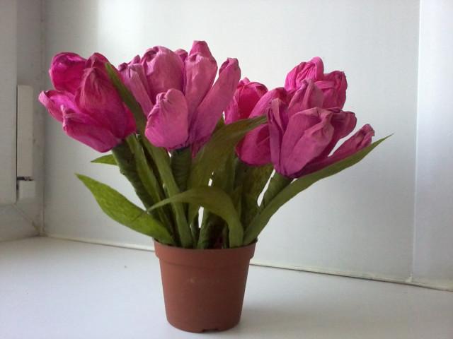 тюльпаны из гофрированной бумаги=) - Заметки обо всем...=) Тюльпан из Гофрированной Бумаги