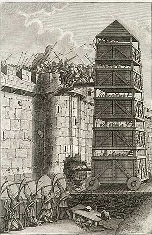 Grose-Francis-Pavisors-and-Moveable-Tower-Assaulting-Castle-1812-e1379243932634