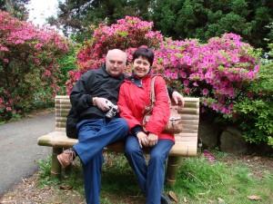 48. Гости с Украины в парке французского садовода.