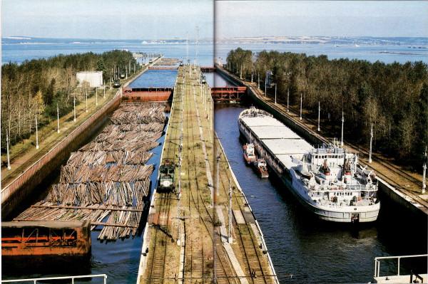 15 Волго-дон-5040 в Пермском шлюзе-1980е гг