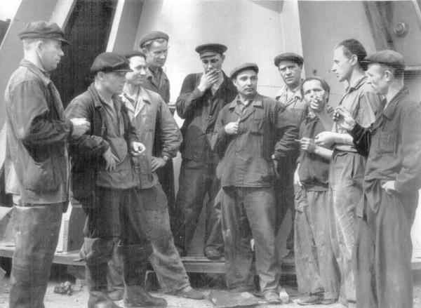 12 1959 г. Строительная бригада Воткинской ГЭС