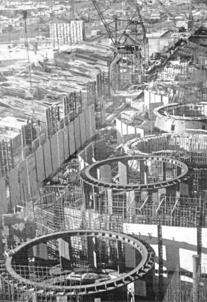 14 1960г. Строительство Воткинской ГЭС. Подготовка к бетонированию кратеров гидроагрегатов