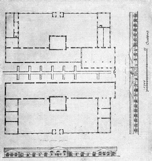 3 Каменные цехи Очерского завода (Чертеж 1840 г