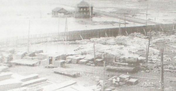 7 Затопление территории бывшего Добрянского металлургического завода. 1950-е годы.
