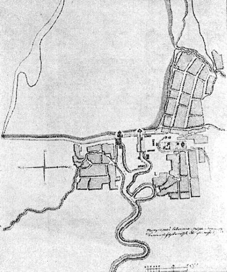 2 План Пожевского завода с поселком (1797 г)