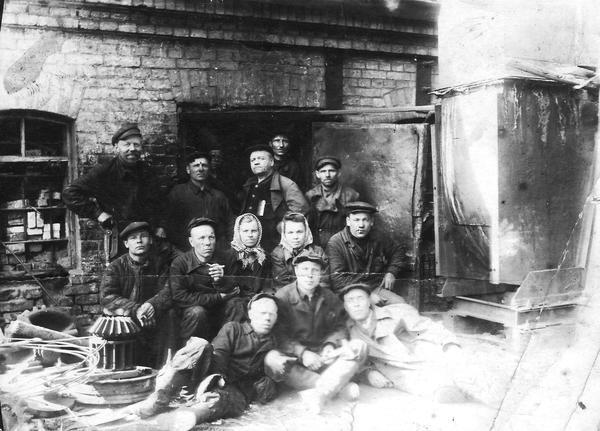 40 Рабочие мартеновского цеха.