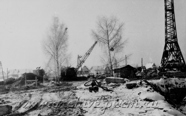 11 Строительство завода «Камкабель». Фотография. 1963 г.