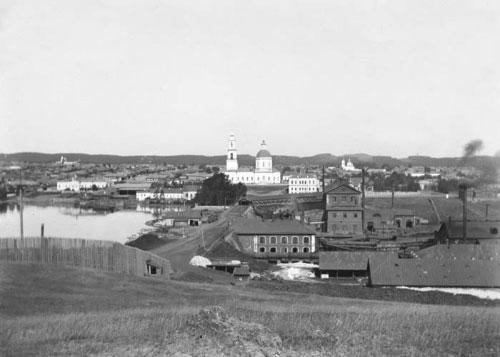 1 Вид на Сысерть с горы Бесенковой. Фото конца XIX века