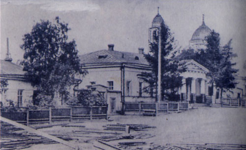 6 Контора Верхнесалдинского завода. Слева - дом управляющего. В свое время там жил известный металлург В.Е. Грум-Гржимайло
