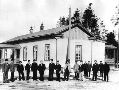 11 Инженерный персонал и управляющие прииска Поклевский-Козел. 1905 г.