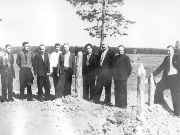 3 Начало работ по разметке строительной площадки (сейчас ОАО «Серовский завод ферросплавов» )