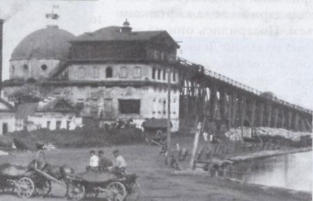 3 Домна и погрузочная эстакада Шайтанского завода. Фото 1913 года