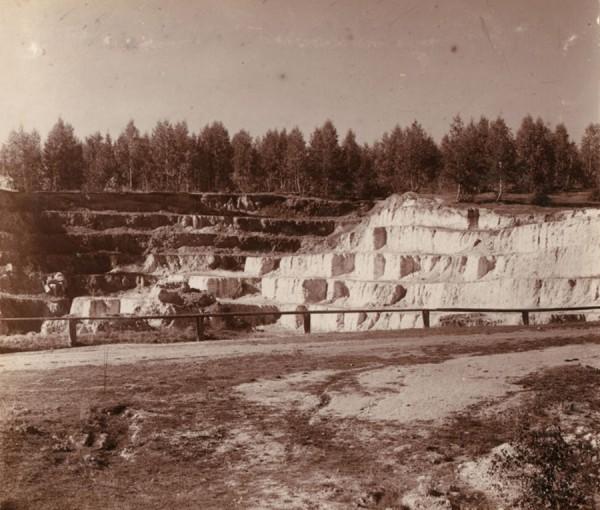 12 С. М. Прокудин-Горский. [Разгуляевский] разрез железной руды. 1909 год