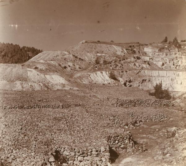 13 С. М. Прокудин-Горский. [Разгуляевский железный рудник] и склад железной руды. 1909 год