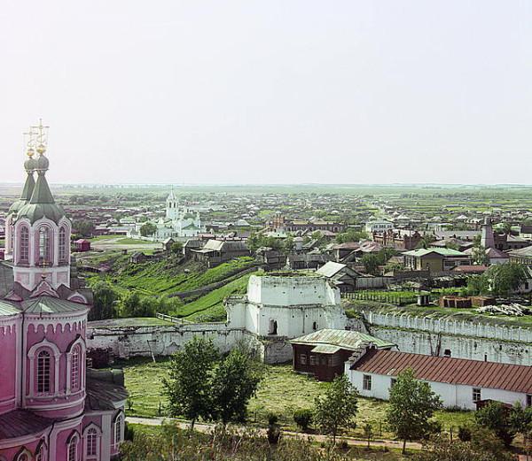2 Далматово. Вид на западную часть с колокольни монастыря.