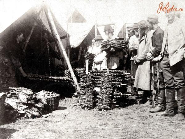 1 Торговля сушеной рыбой на ярмарке
