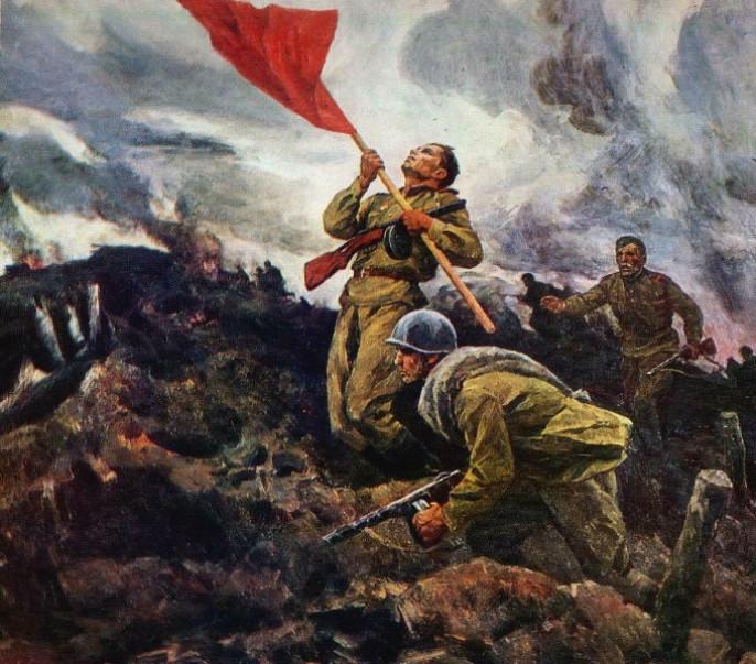 Картина А. Широкова За Родину.